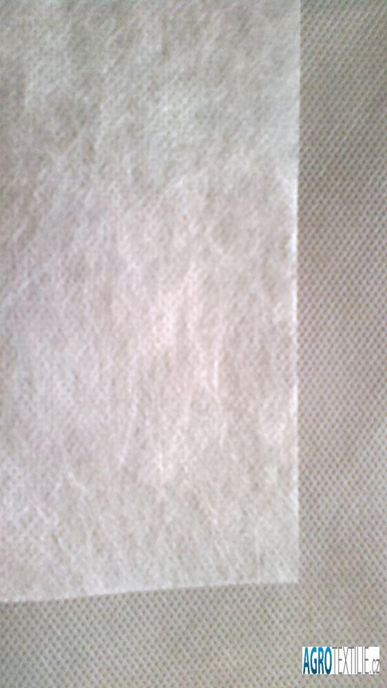 Netkaná textílie bílá 19g 1,6 m x 50m váha role 1,5kg